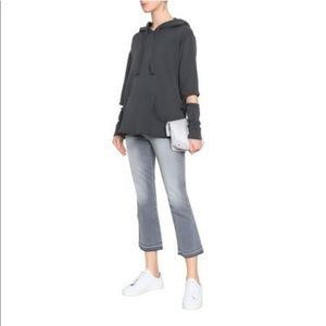 LNA French Cotton Terry Cutout Hoodie